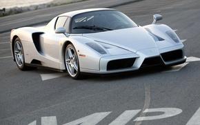 Картинка Ferrari, silver, supercar, Enzo