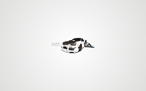 Картинка mafia, Drift, Carbon, WRX, белый, Subaru