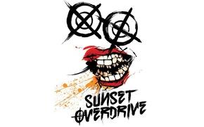 Картинка логотип, Xbox One, Sunset Overdrive, Insomniac Games