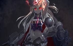 Обои девушка, оружие, магия, аниме, арт, kouji, kantai collection, astral reverie, destroyer water oni