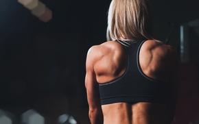 Картинка fitness, training, sportswear, back muscles
