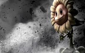 Картинка война, подсолнух, растения, пародия, sunflower, Растения против Зомби, PopCap, Plants vs. Zombies: Garden Warfare, Лепесток …