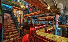 Картинка фото, интерьер, бар, лестница