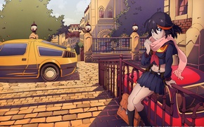 Картинка car, girl, anime, art, kill la kill, kazuki nakashima