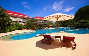 Картинка Таиланд, курорт, бассейн, отель