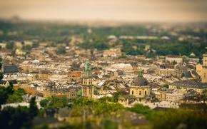 Картинка дома, крыши, панорама, Украина, Львов, вид на город