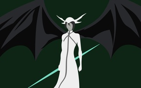 Картинка green, game, Bleach, minimalism, weapon, evolution, anime, wings, gothic, man, espada, assassin, evil, asian, warrior, …