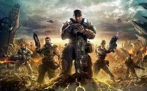 Обои Воины, Солдаты, Бойцы, Gears of War 3