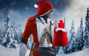 Картинка Взгляд, Снег, Свет, Новый год, Капюшон, Дед Мороз, Ubisoft, Assassin's Creed, Холод, Ubisoft Montreal, Ситуация, ...