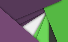 Картинка линии, сиреневый, геометрия, салатовый, android, material