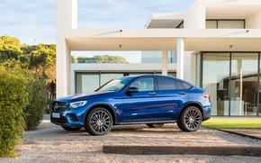 Обои синий, Mercedes-Benz, мерседес, AMG, Coupe, GLC-Class, C253