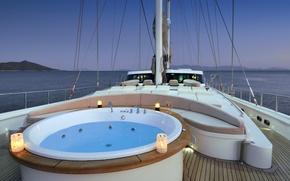 Картинка дизайн, стиль, интерьер, яхта, джакузи, палуба, люкс