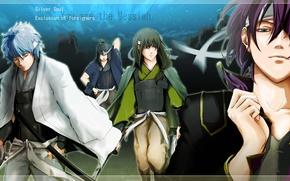 Картинка аниме, арт, парни, самураи, GINTAMA