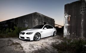 Картинка белый, bmw, бмв, white, wheels, сумерки, e92