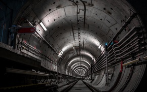Обои dark, metro, tunnel