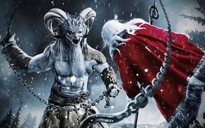 Картинка Рождество, Демон, Рога, Санта Клаус, Christmas, Devil, Demon, Horns, Santa Clause, Крампус, Krampus, A Christmas ...