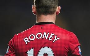 Картинка руни, манчестер, Rooney, EPL, Wayne Rooney, Captain, Machester United