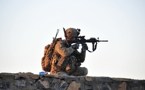 Обои оружие, солдат, United States Army