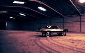 Картинка Cadillac, тачки, тачка, ангар, cars, колёса, кадиллак, auto wallpapers, авто обои, авто фото