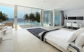Картинка pool, design, style, interior, luxury villa, living space