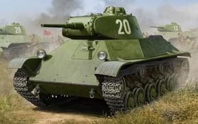 Картинка Т-50, war, art, painting, tank