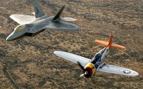 Обои aircraft, f22a, raptor