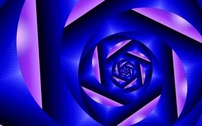 Картинка цвет, спираль, тоннель, объем