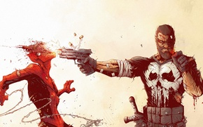 Картинка Art, Punisher, Spider Man, Каратель, Tonton Revolver, Человек Паук