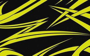 Картинка линии, чёрный, карбон, текстуры, Жёлтый