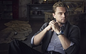 Картинка часы, мужчина, актёр, actor, свитер, Леонардо ДиКаприо, Leonardo DiCaprio, Tag Heuer