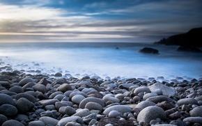 Картинка море, пейзаж, природа, камни, мгла