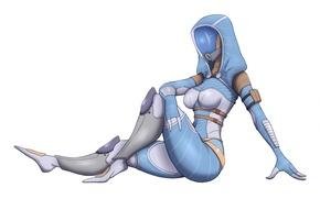 Картинка маска, арт, костюм, пришелец, Mass Effect, tali, quarian, Tali'Zorah nar Rayya, Tali'Zorah