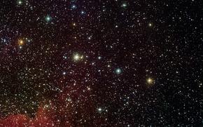 Обои вселенная, газ, скопления, звезды