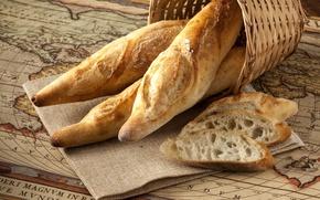 Картинка хлеб, багет, выпечка, аппетитный