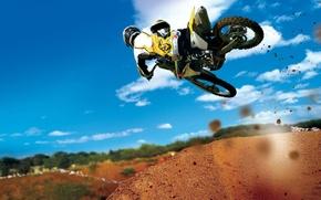 Обои мотоцикл, Прыжок