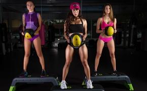 Картинка women, look, pose, workout, fitness class