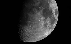 Обои поверхность, луна, спутник