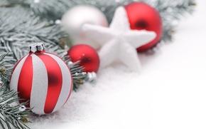 Картинка украшения, шары, Новый Год, Рождество, Christmas, balls, New Year, decoration