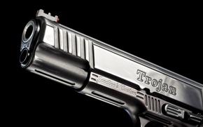 Картинка металл, пистолет, оружие, фон, ствол