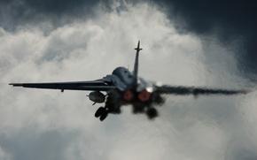 Обои взлет, самолет, авиация, Су-24