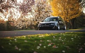 Картинка Subaru, черная, black, субару, stance, Outback