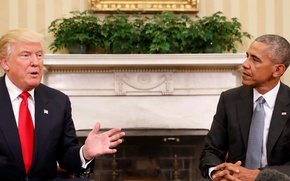 Картинка men, Barack Obama, president, american flag, flag, suit, fireplace, tie, interview, Barack Hussein Obama II, …