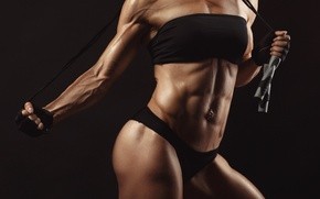 Картинка female, bodybuilding, abs, bodybuilder, muscle mass