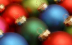 Обои шарики, цвет, Новый год