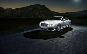 Картинка Bentley, Continental, Бентли, white