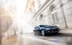 Картинка улица, скорость, автомобиль, BMW Alpina B6