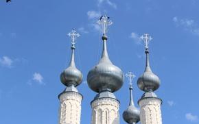 Картинка небо, купола, Суздаль