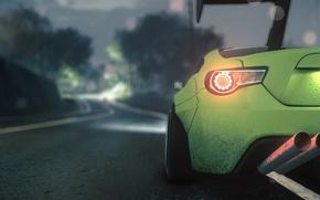 Картинка green, need for speed, subaru, brz, sport car
