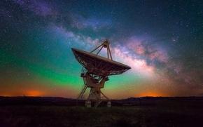 Картинка небо, звезды, ночь, антенна, мнечный путь