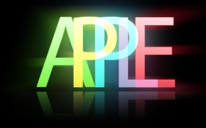 Картинка фон, чёрный, apple, яблоко, минимализм, эмблема, бренд